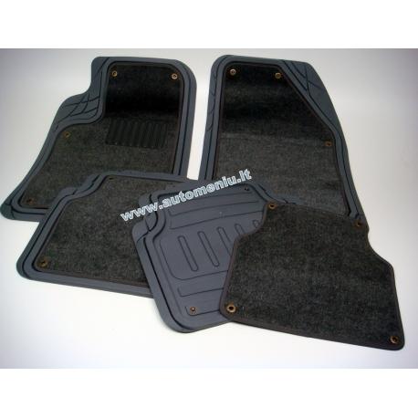 Juodi Guminiai kilimėliai (su isšegama medžiaga)