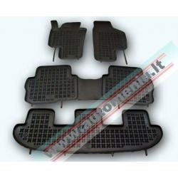 Seat Alhambra 2010 → 7 sėdynės Guminiai kilimėliai su loveliu