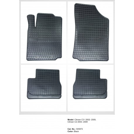 Citroen C2 2003 → 2009 Guminiai kilimėliai