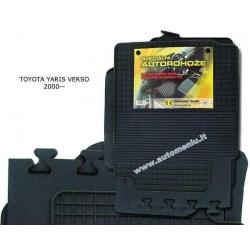 Toyota YARIS Verso 2000 → 2004 Guminiai kilimėliai