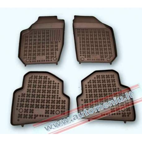 Skoda Fabia II 2007 → 2014 Guminiai kilimėliai su loveliu