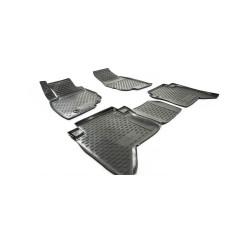 TOYOTA Hilux 2008 → 2015, 1 eilė Guminiai kilimėliai 3D aukštais borteliais