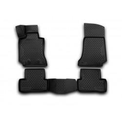 MERCEDES BENZ C W205 sedanas (Europe) 2014 → Guminiai kilimėliai 3D aukštais borteliais