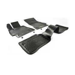 MERCEDES BENZ E W211 (rear drive) 2002 → 2009 Guminiai kilimėliai 3D aukštais borteliais