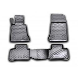 MERCEDES BENZ GLK X204 2008 → Guminiai kilimėliai 3D aukštais borteliais