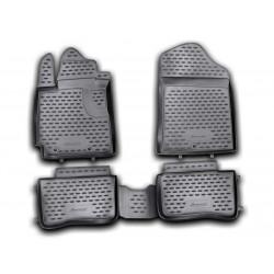 KIA Picanto 2011 → Guminiai kilimėliai 3D aukštais borteliais