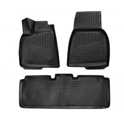 TESLA Model S 2012 → (Europe) Guminiai kilimėliai 3D aukštais borteliais