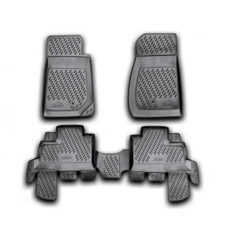 JEEP Wrangler 2007 → Guminiai kilimėliai 3D aukštais borteliais