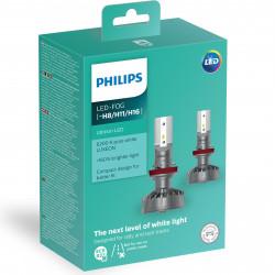 PHILIPS 11366ULWX2 LED H8 / H11 / H16 Ultion + 160% Šviesos diodų lemputės
