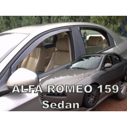 ALFA ROMEO 159 4D SEDANAS 2005 → 2011 (+OT)) Langų vėjo deflektoriai keturioms durims