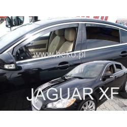 JAGUAR XF I X250 2007 →2015 langų vėjo deflektoriai keturioms durims