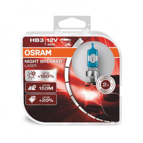 OSRAM automobilių lemputės HB3 9005 60W 12V NIGHT BREAKER LASER +150%