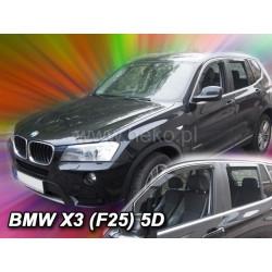 BMW X3 F25 5 durų 2010 → 2017 (+OT) Langų vėjo deflektoriai keturioms durims