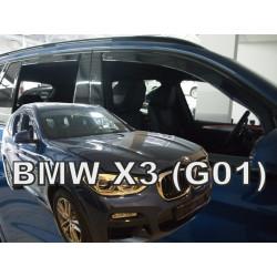 BMW X3 5 durų 2017 → Langų vėjo deflektoriai keturioms durims