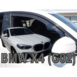 BMW X4 G02 5 durų 2018 → Langų vėjo deflektoriai priekinėms durims