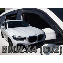 BMW X4 G02 2018 → (+OT) Langų vėjo deflektoriai keturioms durims