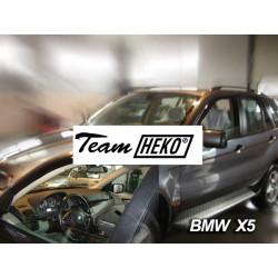 BMW X5 E53 5durų 1999 → 2006 Langų vėjo deflektoriai priekinėms durims