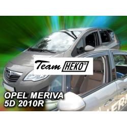 OPEL MERIVA 5 durų 2010 → Langų vėjo deflektoriai priekinėms durims