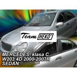 MERCEDES C W203 4 durų 2000 → 2007 (+OT) Sedanas Langų vėjo deflektoriai keturioms durims