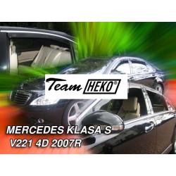 MERCEDES S V 221 4 durų 2007 → 2013 (+OT) Langų vėjo deflektoriai keturioms durims