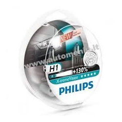 Philips lemputės 55W 12V H1 Philips X-treme Vision + 130%