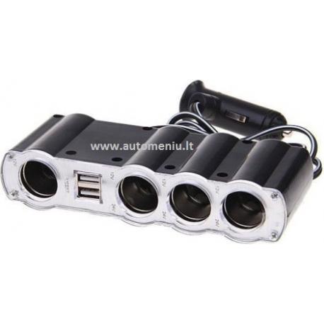 SKIRSTYTUVAS 4 LIZDŲ 12v + 2 USB